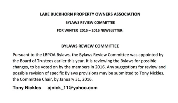 lakebylaws